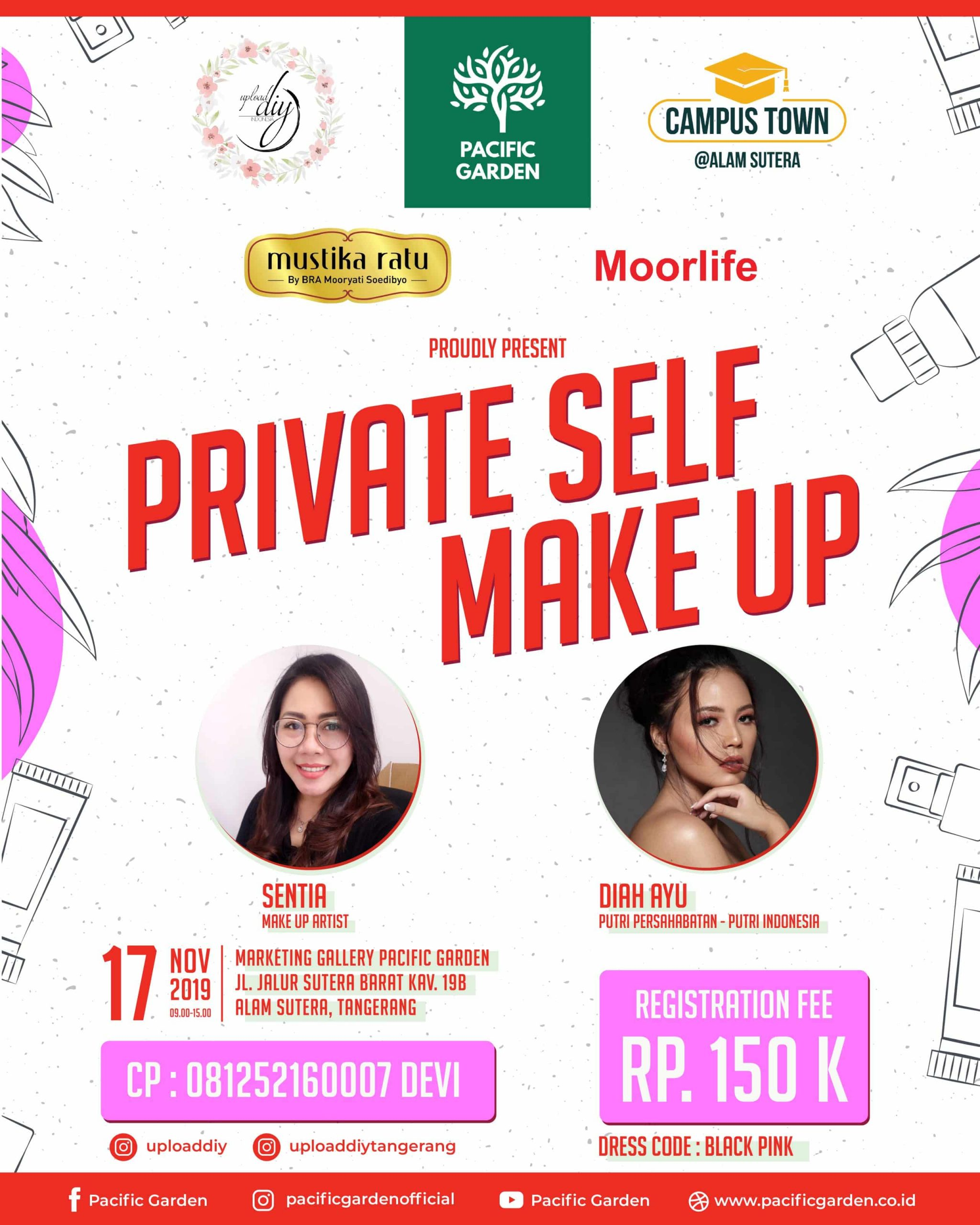 You are currently viewing Private Self Make Up by Mustika Ratu Bersama Pacific Garden
