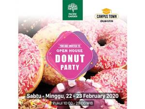 Open House Donut Party 22-23 Februari