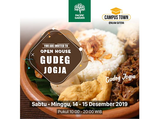 "Pacific Garden Open House ""Gudeg Jogja"""