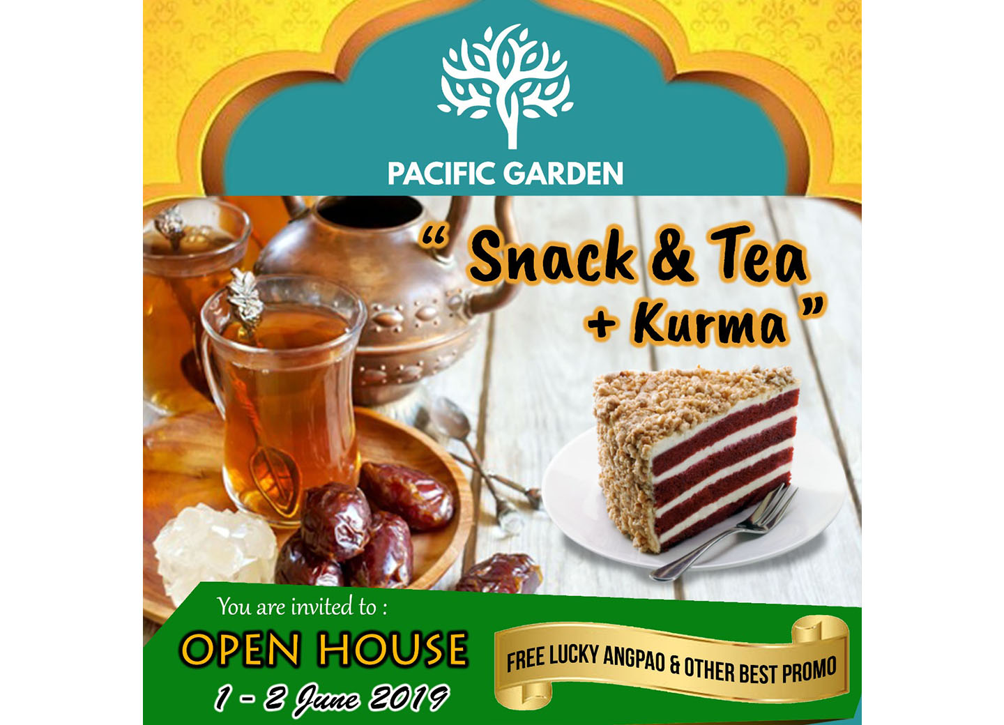 Pacific Garden Open House Snack and Tea Party + Kurma 1-2 Juni 2020