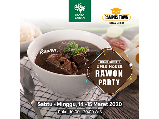 """Pacific Garden Open House """"Rawon Party"""""""